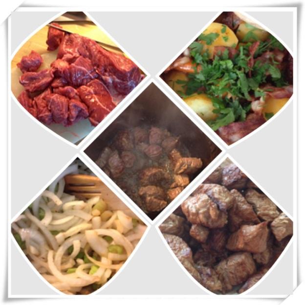 Irish stew collage