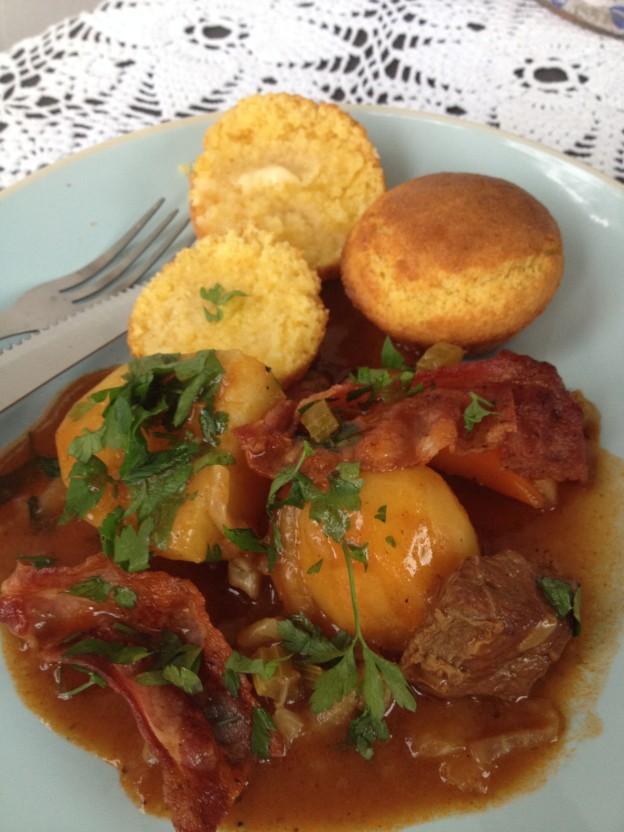 irish stew på tallerken